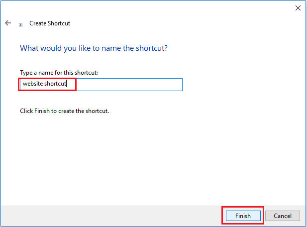 create a website shortcut 8