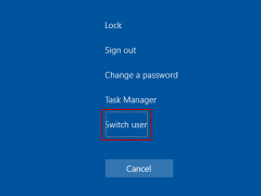 how to switch user in windows 10