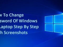 windows 10 password change with steps