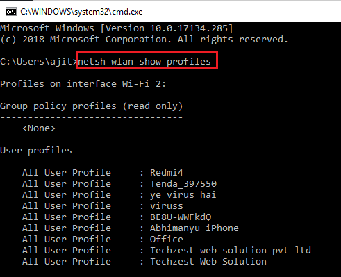 forget wifi network windows 10 using cmd
