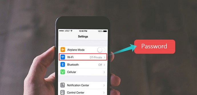 how to find wifi password on iphone