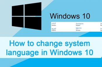 change language in windows 10