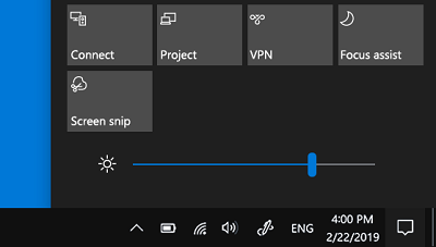 screen brightness adjustment windows 10