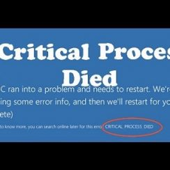 Critical Process Died Windows 10