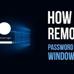 How to remove password windows 10