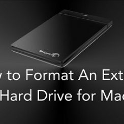 format external hard drive mac