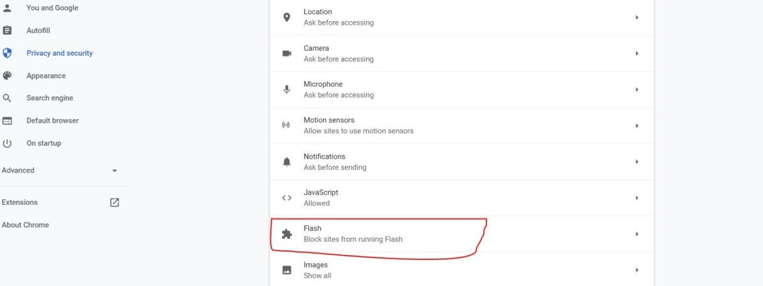 how to enable flash chrome