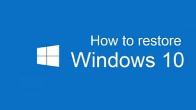 how to restore windows 10 on system restore point
